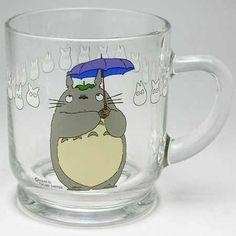 MUG CUP - GLASS - Noritake - Made in Japan - Totoro - Studio Ghibli - no production (RARE)