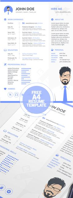 Free Resume template + cover letter template PSD Templates - is a cv a resume