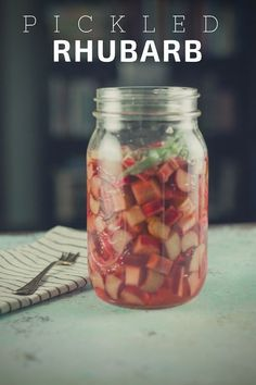 Pickled rhubarb. A savory spin on rhubarb and a simple way to brighten a salad. From Blossom to Stem   Because Delicious http://www.blossomtostem.net