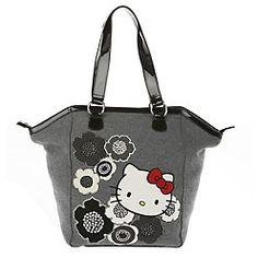 grey hello kitty purse