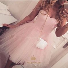 Sparkly Prom Dress, adorable a line sweetheart short pink tulle homecoming dress party dress , These 2020 prom dresses include everything from sophisticated long prom gowns to short party dresses for prom. Homecoming Dresses 2017, Mini Prom Dresses, Sweet 16 Dresses, Tulle Prom Dress, Prom Gowns, Cheap Dresses, Pretty Dresses, Beautiful Dresses, Evening Gowns