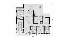 lin324_z_1np Domy Promiprojekt / Linear 324 My House, House Plans, Contemporary Houses, Floor Plans, House Design, How To Plan, Log Projects, Houses, Contemporary