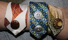 Recycle old mens neckties!