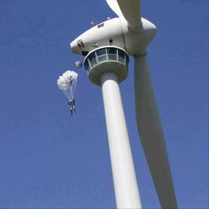 Isn't it great idea But it shouldn't be tried when the turbine is working