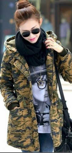 Military Fashion, Military Jacket, Jackets, Down Jackets, Military Style, Military Field Jacket, Military Jackets, Cropped Jackets, Jacket