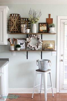99 DIY Farmhouse Living Room Wall Decor And Design Ideas (18)