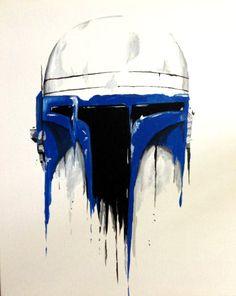 Star Wars Jango Fett Inspired Blue Drip Style by ABXYCustoms