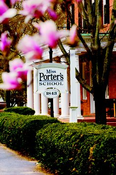 "Miss Porter's School is a private boarding school in Farmington, CT. The board titled ""Campus"" has amazingly beautiful pictures of their campus in each season. We fell in love with this one in spring. Great job marketing your school Miss Porter's! Main in spring"