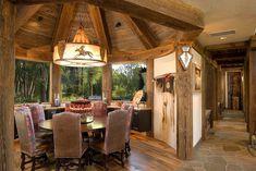 Cozy custom dining room with rustic elegance