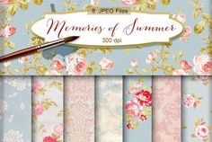 New Freebies Kit of Backgrounds - Memories of Summer