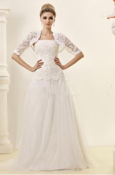 Gorgeous Empire Spaghetti Straps Sleeveless Beaded Court Train Beach Wedding Dress
