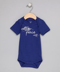 Take a look at this Bright Night Blue Peace Organic Bodysuit - Infant by Booda Brand on #zulily today!