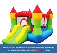 Bounceland Bounce House Castle W/Hoop Inflatable Bouncer Castle Bounce House, Bouncy House, Bouncy Castle, Inflatable Bounce House, Inflatable Bouncers, Nylons, Gfci Plug, Castle Party, Kids Castle