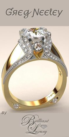 Brilliant Luxury * Italian Top Ladies Diamond and 18k Ring