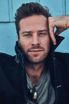 "Mr Porter's weekly style guide ""The Journal"" features ""Call Me by Your Name"" star Armie Hammer photographed by Beau Grealy and styled by Nicolas Klam. Armie Hammer, Pretty Men, Gorgeous Men, Hommes Sexy, Hot Actors, Handsome Actors, Mr Porter, Male Face, Hairy Men"