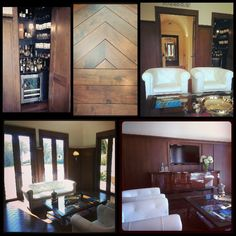 Walnut paneled salon /bar perfect for entertaining