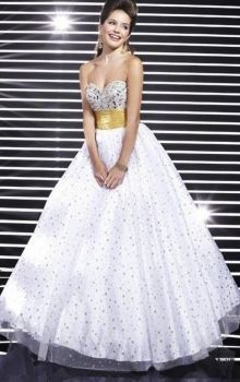 White Ball Gown Strapless,Sweetheart Empire Long/Floor-length Sleeveless Beading,Sequins Lace-up Quinceanera Dress Dress