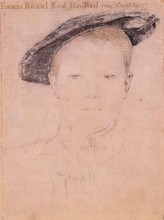 Francis Russell ( My 12thGGF),  Earl of Bedford by Hans Holbein the Younger - Francis Russell, 2nd Earl of Bedford - Wikipedia