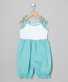 c9d5feffab3 Kumquat Blue Polka Dot Bubble Romper - Infant   Toddler