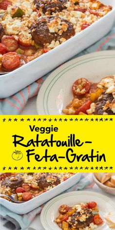 Ratatouille - der Gemüseeintopf ist heute weit über die Grenzen Frankreichs bekannt und beliebt. Und das aus gutem Grund. Wir haben unser Rezept noch mit Feta und vegetarischen Klößchen verfeinert. Garantiert ein Genuss!