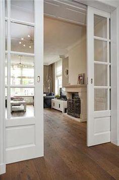 Sliding Door Design, Piano Room, Room Doors, Interior Trim, Pocket Doors, Internal Doors, Custom Homes, Sweet Home, New Homes