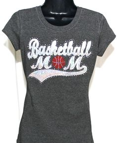 Basketball Mom Ultimate Sequins and Rhinestone Bling T-Shirt bcaf767281e4