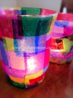 So easy to make....decoupage candle holders