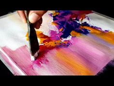 Very Easy and Colorful Abstract Painting / Acrylics / Project 365 days / Day #011 / Demonstration - YouTube