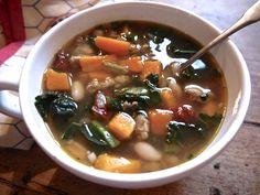 sweet potato, sausage & kale soup
