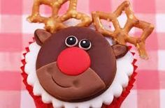 Filled with juicy cranberries and topped with a cute Rudolph fondant topper, these Christmas Rudolph cranberry cupcakes by our cupcake queen Victoria Threader are bound to put a smile on anyone's face. Get the recipe: Christmas Rudolph cranberry cupcakes Christmas Desserts, Christmas Treats, Christmas Baking, Reindeer Christmas, Christmas Recipes, Holiday Recipes, Christmas Ornaments, Reindeer Cupcakes, Christmas Cupcakes
