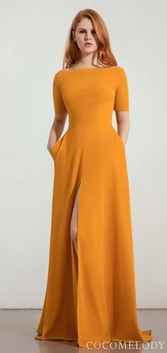 Trends 2020 Bridesmaid Dress with Cocomelody Belle The Mag .- Brautjungfernkleid Trends 2020 mit Cocomelody Belle The Magazine Bridesmaid dress Trends 2020 with Cocomelody Belle The Magazine # fashion - Bridesmaid Dresses With Sleeves, Affordable Bridesmaid Dresses, Burgundy Bridesmaid Dresses, Yellow Wedding Guest Dresses, Besties, Bridal Fashion Week, Mellow Yellow, Yellow Dress, The Dress