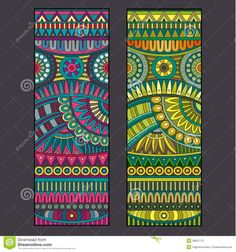 Abstract Vector Tribal Ethnic Background Set. Stock Vector - Image: 39921172