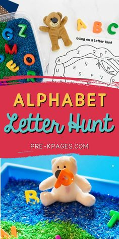 This alphabet letter hunt makes the perfect companion activity to go along with the classic children's book, Going on a Bear Hunt by Helen Oxenbury and Michael Rosen. It's a super fun, hands-on literacy activity to motivate your preschoolers to practice letter recognition skills
