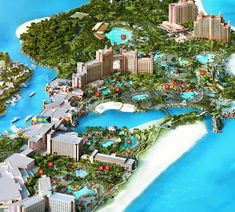 Discover the best things to do in Atlantis, Bahamas! From the thrilling waterpark to the relaxing spa, there is no shortage of amazing activities on Paradise Island. Atlantis Bahamas, Bahamas Resorts, Travel Oklahoma, Paradise Island, New York Travel, Thailand Travel, Habitats, Places To Travel, Tourism