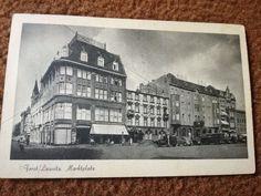 Forst Lausitz, nördliche Marktseite, Kaufhaus Loewenstein, Pittius Hotel und Mohrs Hotel