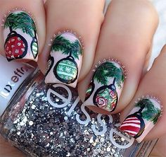 Top Nail Art Stickers For Christmas Ornament