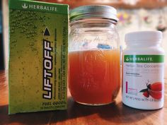 Tea Bomb! 1 Herbalife LIFTOFF 1 Heaping 1/2 tsp of Herbalife Tea Concentrate 8 oz water  A boost for your mind and body!