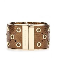 Burberry London Leather-Coated Cuff $529