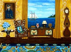 This approx. 8x10 reproduction is from the original painting by artist, Catherine Nolin. For the sailor or lover of the sea. Look closely at