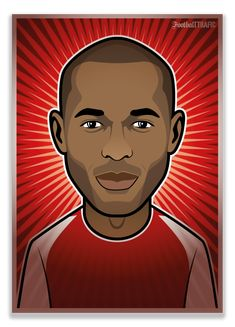 Tribute to 50 legendary football players Football 24, Football Players, Thierry Henry, Arsenal, Kids Playing, Soccer, Hero, History, Portrait