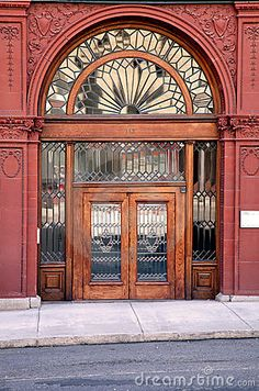 Old Doors with beautiful beveled glass- photo by Jamietipton, via Dreamstime