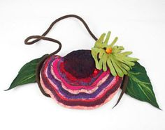 Flower Bag Felted Bag Floral Bag Shoulder Bag Fairy Felt Purse Flower Bag Fairy Felt Bag Nunofelt Bag  Much more beautiful than the picture! A bag from our workshop. A feminine and gorgeous piece of art - it will emphasize your individuality!  Hand - felted with silk. Delights the eye with saturated colors. Magnetic snap. Nice to touch. Magnetic snap. Pocket for keys and small things inside.  As a base for our works we use great materials like highest quality silk chiffon, mulberry silk…