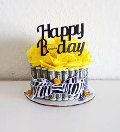 Money Cake Happy Birthday Zebra by NewECreativeGifts on Etsy