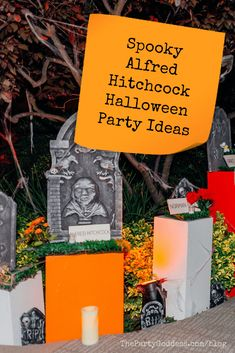 How to plan an Alfred Hitchcock-themed Halloween party! | The Party Goddess! #halloween #halloweenparty #halloweenpartyideas