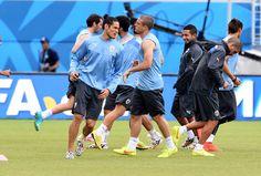 Edinson Cavani of Uruguay during a training session