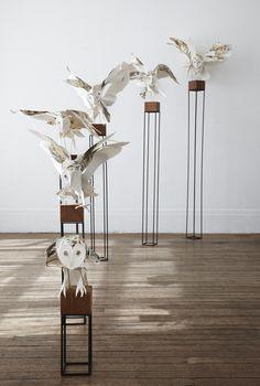 Art   アート   искусство   Arte   Kunst   Paintings & Installations   anna wili highfield - paper owls