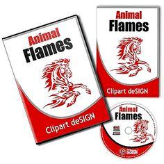 Animal Flames Vector Clipart Design Vol 1 – CD/Download