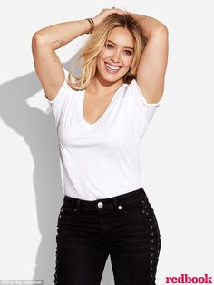 Looking good! Hilary Duff posed for the April issue of Redbook