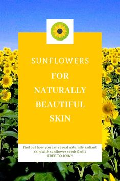 Discover how to reveal naturally beautiful and healthy skin with sunflower seed oil ON skin, and eating sunflower seed products for healthy skin from within! This and so much more in our FREE private group! Join us now!! Facebook group ⏩From Earth To Skin⏪-or click link to login and join #skincare #Naturalskincare #naturalskincarerecipes #eatingforyoungerlookingskin #antiaging #antiagingskincare #naturaloilsforskin #acneskincare #diyskincare #diyskincarerecipes