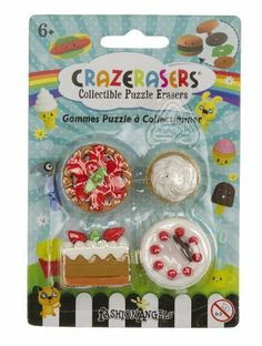 Crazerasers Collectible Erasers ~ Desserts (Series 1; Pie, Cupcake, & Cakes) by Fashion Angels Enterprises. $5.90. Each pack contains 4 mini-erasers.. Erasers are not just for erasing? Are you crazy? Hop on the latest fashion/toy trend, collect these cute CRAZERASERS! Series 1 of the CRAZERASERS bring us even more surprisingly new erasers!. No PVC. Safety Tested.. There are 12 styles in this series (EACH SOLD SEPARATELY): Bathroom Essentials, Breakfast Moment, Ca...